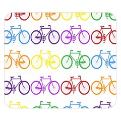 Rainbow Colors Bright Colorful Bicycles Wallpaper Background Double Sided Flano Blanket (Small)