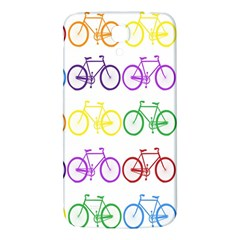Rainbow Colors Bright Colorful Bicycles Wallpaper Background Samsung Galaxy Mega I9200 Hardshell Back Case