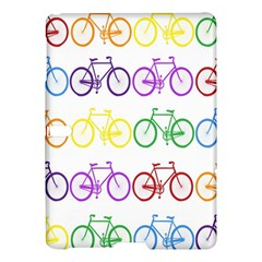 Rainbow Colors Bright Colorful Bicycles Wallpaper Background Samsung Galaxy Tab S (10 5 ) Hardshell Case