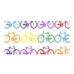 Rainbow Colors Bright Colorful Bicycles Wallpaper Background Satin Wrap
