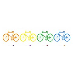 Rainbow Colors Bright Colorful Bicycles Wallpaper Background Satin Scarf (Oblong)