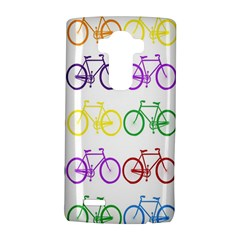 Rainbow Colors Bright Colorful Bicycles Wallpaper Background Lg G4 Hardshell Case