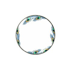 Beautiful Frame Made Up Of Blue Peacock Feathers Hat Clip Ball Marker (4 pack)