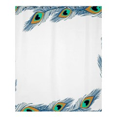 Beautiful Frame Made Up Of Blue Peacock Feathers Shower Curtain 60  x 72  (Medium)