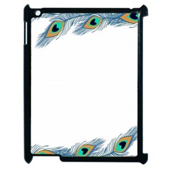 Beautiful Frame Made Up Of Blue Peacock Feathers Apple iPad 2 Case (Black)