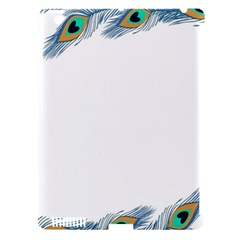 Beautiful Frame Made Up Of Blue Peacock Feathers Apple Ipad 3/4 Hardshell Case (compatible With Smart Cover)