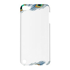 Beautiful Frame Made Up Of Blue Peacock Feathers Apple iPod Touch 5 Hardshell Case