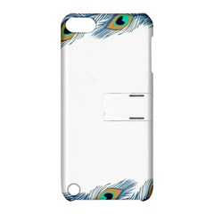 Beautiful Frame Made Up Of Blue Peacock Feathers Apple iPod Touch 5 Hardshell Case with Stand