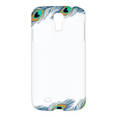 Beautiful Frame Made Up Of Blue Peacock Feathers Samsung Galaxy S4 I9500/I9505 Hardshell Case