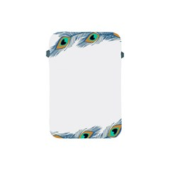 Beautiful Frame Made Up Of Blue Peacock Feathers Apple iPad Mini Protective Soft Cases