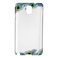 Beautiful Frame Made Up Of Blue Peacock Feathers Samsung Galaxy Note 3 N9005 Hardshell Case