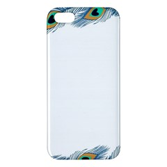 Beautiful Frame Made Up Of Blue Peacock Feathers iPhone 5S/ SE Premium Hardshell Case