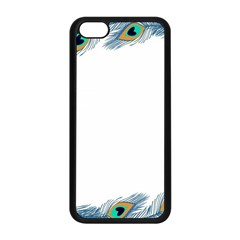 Beautiful Frame Made Up Of Blue Peacock Feathers Apple Iphone 5c Seamless Case (black)