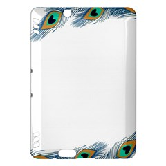 Beautiful Frame Made Up Of Blue Peacock Feathers Kindle Fire HDX Hardshell Case