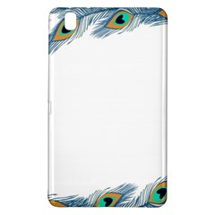 Beautiful Frame Made Up Of Blue Peacock Feathers Samsung Galaxy Tab Pro 8.4 Hardshell Case