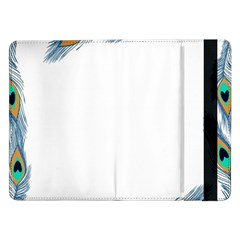 Beautiful Frame Made Up Of Blue Peacock Feathers Samsung Galaxy Tab Pro 12.2  Flip Case