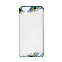 Beautiful Frame Made Up Of Blue Peacock Feathers Apple iPhone 6/6S Hardshell Case