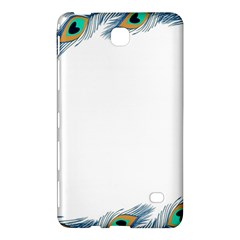 Beautiful Frame Made Up Of Blue Peacock Feathers Samsung Galaxy Tab 4 (8 ) Hardshell Case