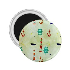 Vintage Seamless Nautical Wallpaper Pattern 2.25  Magnets