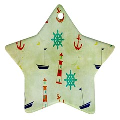 Vintage Seamless Nautical Wallpaper Pattern Ornament (Star)