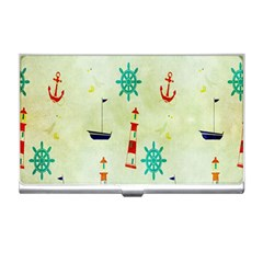 Vintage Seamless Nautical Wallpaper Pattern Business Card Holders