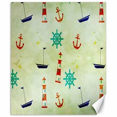 Vintage Seamless Nautical Wallpaper Pattern Canvas 20  x 24