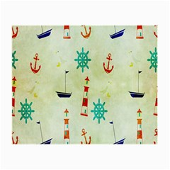 Vintage Seamless Nautical Wallpaper Pattern Small Glasses Cloth (2 Side)