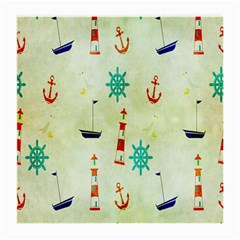 Vintage Seamless Nautical Wallpaper Pattern Medium Glasses Cloth (2-Side)