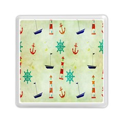 Vintage Seamless Nautical Wallpaper Pattern Memory Card Reader (square)