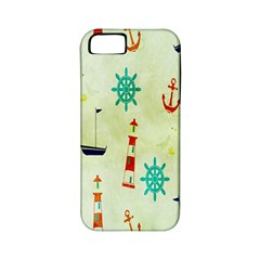 Vintage Seamless Nautical Wallpaper Pattern Apple iPhone 5 Classic Hardshell Case (PC+Silicone)