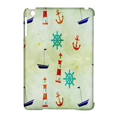 Vintage Seamless Nautical Wallpaper Pattern Apple iPad Mini Hardshell Case (Compatible with Smart Cover)