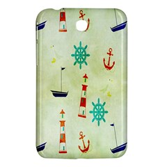 Vintage Seamless Nautical Wallpaper Pattern Samsung Galaxy Tab 3 (7 ) P3200 Hardshell Case