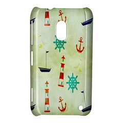 Vintage Seamless Nautical Wallpaper Pattern Nokia Lumia 620