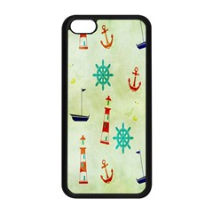 Vintage Seamless Nautical Wallpaper Pattern Apple iPhone 5C Seamless Case (Black)