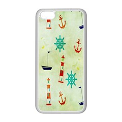 Vintage Seamless Nautical Wallpaper Pattern Apple iPhone 5C Seamless Case (White)