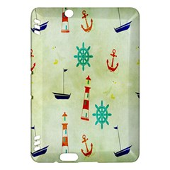 Vintage Seamless Nautical Wallpaper Pattern Kindle Fire HDX Hardshell Case