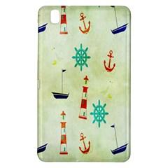 Vintage Seamless Nautical Wallpaper Pattern Samsung Galaxy Tab Pro 8 4 Hardshell Case