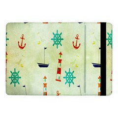Vintage Seamless Nautical Wallpaper Pattern Samsung Galaxy Tab Pro 10 1  Flip Case