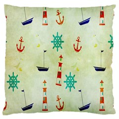 Vintage Seamless Nautical Wallpaper Pattern Large Flano Cushion Case (One Side)