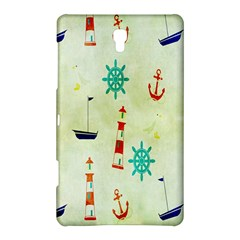Vintage Seamless Nautical Wallpaper Pattern Samsung Galaxy Tab S (8.4 ) Hardshell Case