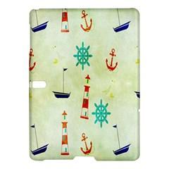 Vintage Seamless Nautical Wallpaper Pattern Samsung Galaxy Tab S (10.5 ) Hardshell Case