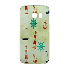 Vintage Seamless Nautical Wallpaper Pattern Galaxy S6 Edge