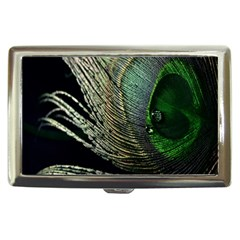 Feather Peacock Drops Green Cigarette Money Cases