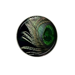 Feather Peacock Drops Green Hat Clip Ball Marker