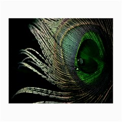 Feather Peacock Drops Green Small Glasses Cloth (2 Side)
