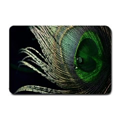 Feather Peacock Drops Green Small Doormat
