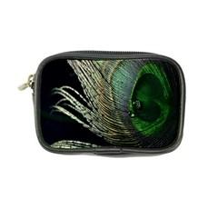 Feather Peacock Drops Green Coin Purse
