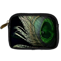 Feather Peacock Drops Green Digital Camera Cases