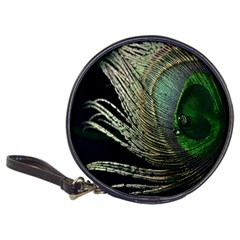 Feather Peacock Drops Green Classic 20 Cd Wallets