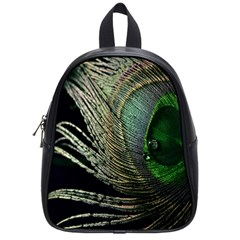 Feather Peacock Drops Green School Bags (small)